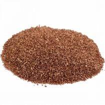 Arena de color cobre arena decorativa marrón Ø0.5mm 2kg