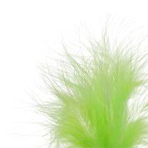 Plumas sobra varillo Verde claro L30cm 12pcs