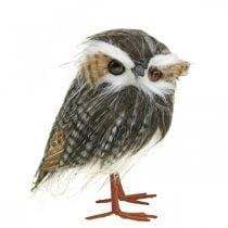 Búho para decorar, otoño, pájaro decorativo, decoración del bosque H21cm