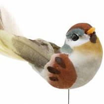 Pájaro en alambre 5.5cm de color 9pcs