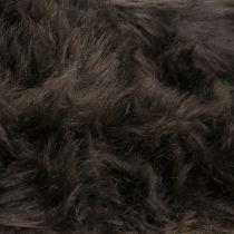 Cinta decorativa de pelo marrón oscuro 16x200cm