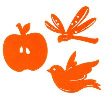 Fieltro Decoración para controlar Naranja 24pcs