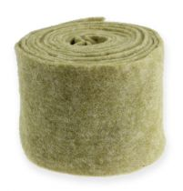 Cinta de fieltro 15cm x 5m verde musgo