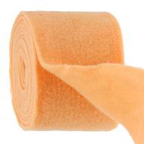 Cinta de fieltro naranja claro 15cm 5m