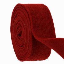 Cinta de fieltro rojo oscuro 7.5cm 5m