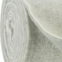 Cinta de fieltro 15cm x 5m bicolor gris, blanco