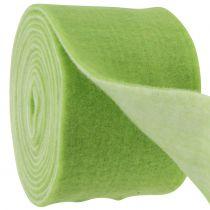 Cinta de fieltro 15cm x 5m bicolor verde, blanco