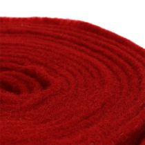 Cinta de fieltro 15cm x 5m rojo oscuro