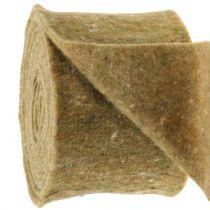 Cinta de fieltro Potband verde con puntos 15cm x 5m