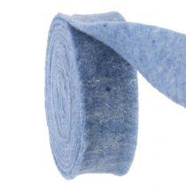 Cinta de fieltro azul 7,5cm 5m