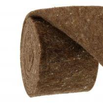 Cinta de fieltro, cinta para macetas marrón 15cm 5m