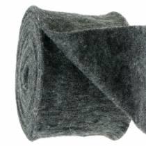 Cinta de fieltro gris oscuro 15cm 5m