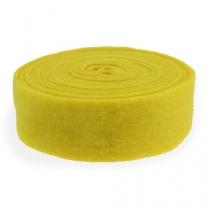 Cinta de fieltro amarilla 7,5cm 5m