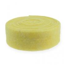 Cinta de fieltro amarillo claro 7,5cm 5m