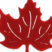 Decoración para controlar Autumn fieltro hojas rojo, naranja 3,5cm 36pcs