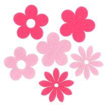 Flor de fieltro rosa, rosa 3.5cm 96pcs
