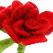 Flor de fieltro 15cm con 3 flores