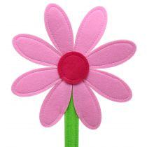 Flor de fieltro rosa 87cm
