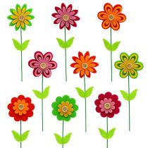 Flor de fieltro como tipo de enchufe colorido. 7cm L25cm 18pcs