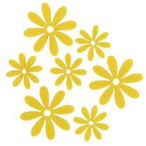 Conjunto de flores de fieltro en amarillo 96 piezas