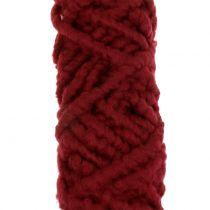 Cordón de fieltro polar Mirabell 25m rojo oscuro