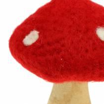 Fly Agaric Autumn Deco Red H13,5cm 2 piezas