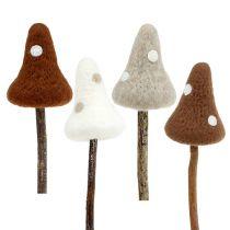 Setas de fieltro palitos de color marrón. 30cm 4pcs