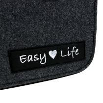 "Bolso de fieltro ""Easy Life"" 39cm x 22cm x 25,5cm Gris"
