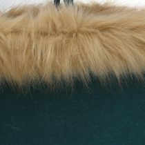 Bolso de fieltro con borde de piel verde 38cm x 24cm x 20cm