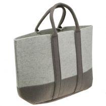 Bolso de fieltro gris / marrón 54cm x 34cm x 15cm