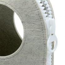 Bolso fieltro gris A58cm