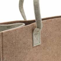 Bolso fieltro marrón claro 50 × 25 × 25cm