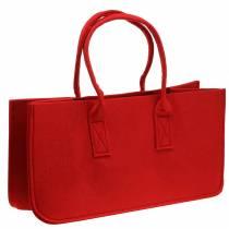 Bolso fieltro rojo 50 × 25 × 25cm