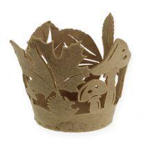 Maceta de fieltro otoño decoración de fieltro jardinera fieltro beige 2 piezas