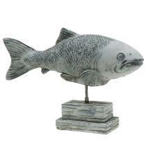 Figura de jardín pez en soporte H20cm