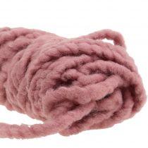 Velcro Mirabell Cordón De Fieltro Rosa Viejo 25m