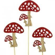 Toadstools de madera, decoración de hongos, otoño, tachuelas de flores H7cm L34cm 18pcs