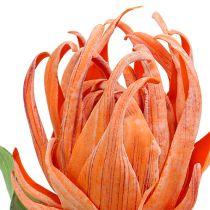 Flor de espuma Naranja 12cm L30cm 1pc