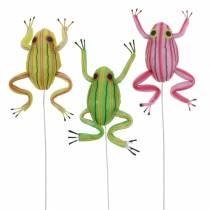 Ranas decorativas clasificadas con alambre 7cm 3pcs