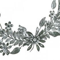 Decoración de primavera, anillo de decoración de flores, decoración de metal, decoración de flores colgante Ø16cm 2pcs