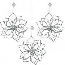 Decoración de primavera, flor de alambre, flor de metal, decoración de boda, colgante de decoración de verano 6 piezas