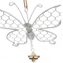 Decoración de primavera, mariposas de metal, Pascua, decoración colgante mariposa 2 piezas