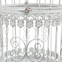 Decoración de primavera, jaula de pájaros para colgar, decoración de metal, vintage, decoración de boda 28,5cm