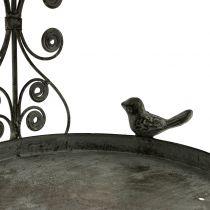 Comedero para pájaros para colgar en estilo vintage H35cm