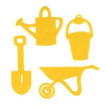Herramientas de jardín fieltro amarillo 24pcs
