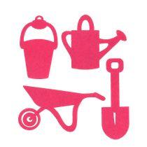 Herramientas de jardín fieltro rosa 24pcs