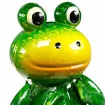 Enchufe decorativo rana saltarina con resortes de metal verde, amarillo Al65.5cm
