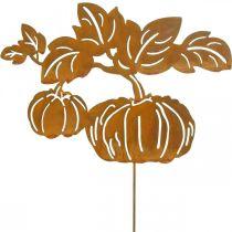 Tapón de jardín calabaza óxido decoración de jardín otoño metal 57cm