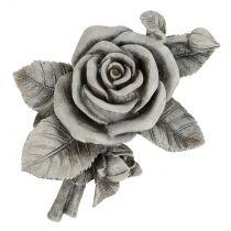 Rose for Grave Jewellery Gris 16cm x 13.5cm 2 piezas