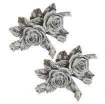 Rosa para decoraciones de tumbas Polyresin 10cm x 8cm 6pcs